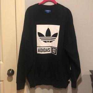 black adidas sweatshirt